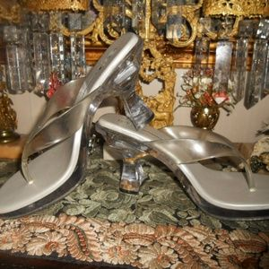 Vintage LIGHT UP Lucite 'Stripper' Size 10 Heels